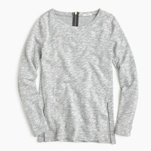 J. Crew Heather Gray Sweatshirt Top Side Slits M